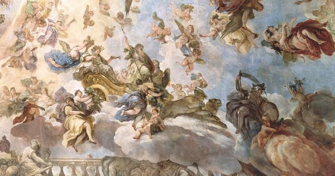 Luca Giordano: Detalle de la Diosa Cibeles en la cúpula del Casón. Museo Nacional del Prado, Madrid.