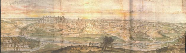 Anton Van der Wyngaerde: Vista de Madrid. 1562.