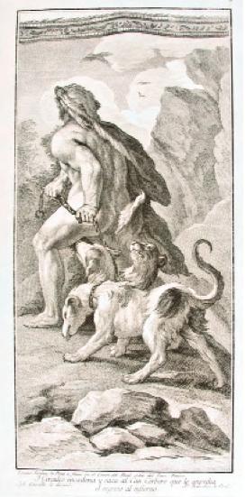 Hércules encadana y saca al cancerbero. Museo Cerralbo, Madrid.