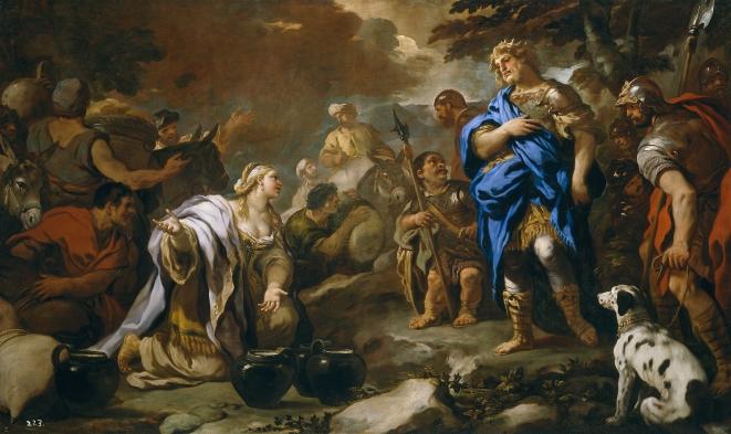 Luca Giordano: La prudente Abigail. Museo Nacional del Prado, Madrid.