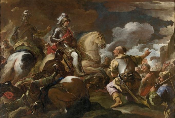 Luca Giordano: Toma de una plaza fuerte. Museo Nacional del Prado, Madrid.