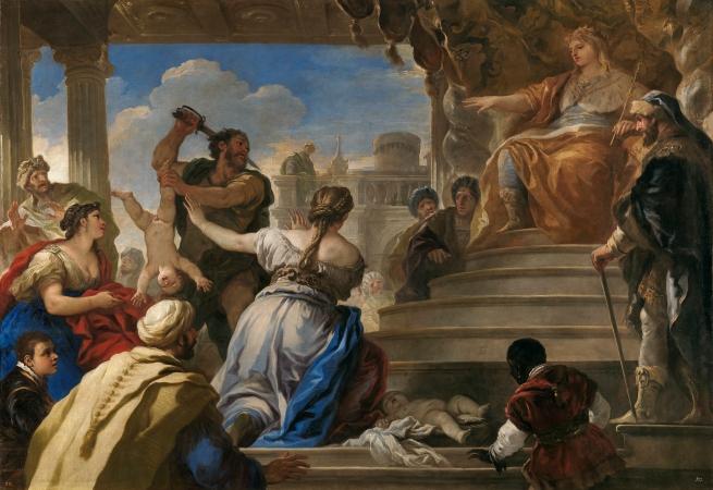 Luca Giordano: El juicio de Salomón. Museo Nacional del Prado, Madrid.