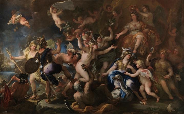 Luca Giordano: Mesina restituída a España. Museo Nacional del Prado, Madrid.