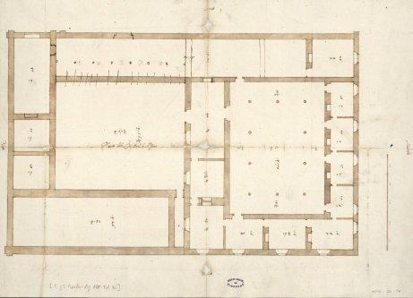 Juan de Herrera: Planta de la Real Casa de Aceca. Archivo General de Simancas.