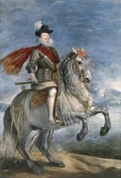 Diego Velázquez: Retrato ecuestre de Felipe III. Museo Nacional del Prado, Madrid.