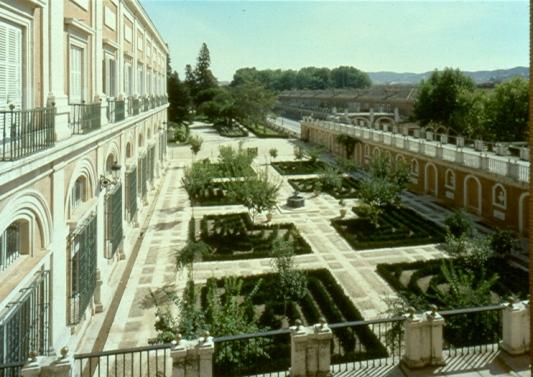 Vista del Jardín del Rey del Palacio Real de Aranjuez.
