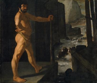 Francisco Zurbarán: Hércules desviando el cauce del río Alfeo. Museo Nacional del Prado, Madrid.