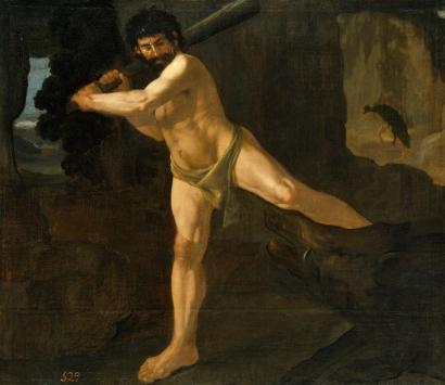 Francisco Zurbarán: Hércules y el jabalí de Erimanto. Museo Nacional del Prado, Madrid.