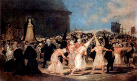 Francisco de Goya: Procesión de disciplinantes. Real Academia de Bellas Artes de San Fernando.
