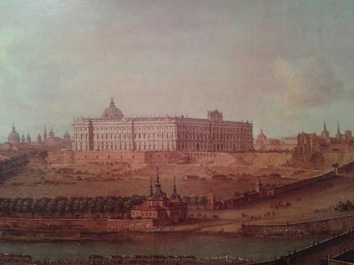 Antonio Joli: Vista del Palacio Real de Madrid en 1753.