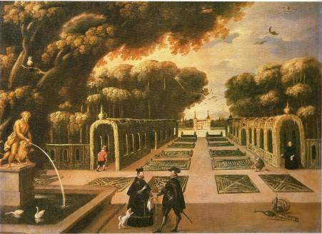 Anónimo madrileño: Vista de los jardines de El Pardo. Museo de Historia de Madrid.