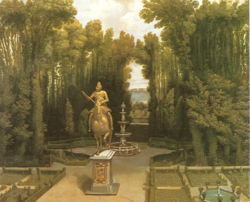 Anónimo español: Vista del jardín de la Casa de Campo. Museo de Historia de Madrid.