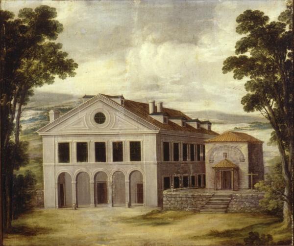 Anónimo: Vista de la Casa de Monesterio. Patrimonio Nacional, Madrid.