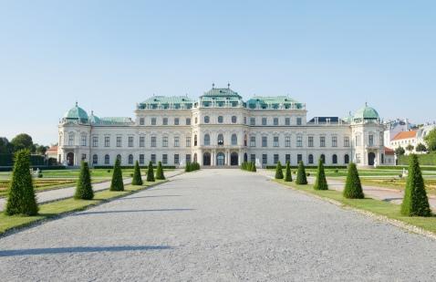 Palacio del Belvedere en Viena.