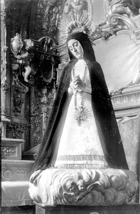 Foto antigua de Nuestra Señora de la Soledad (destruida).
