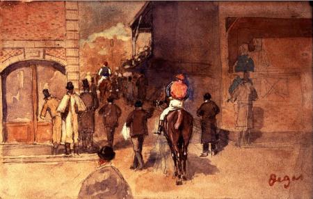 Degas: Leaving the paddock.