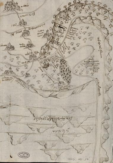 Descripción de la Dehesa de San Saturnín, mediados del siglo XVI, Archivo General de Simancas.