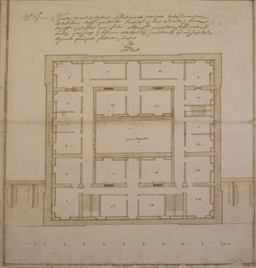 Planta principal del Palacio de la Zarzuela.
