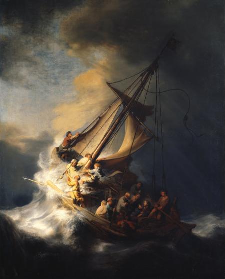 Rembrandt: Cristo en la tormenta del mar de Galilea.