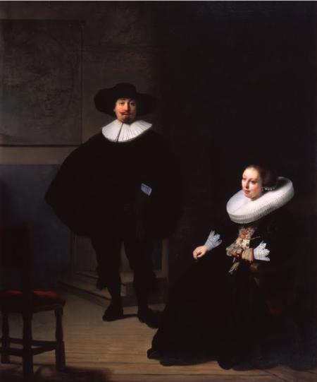 Rembrandt: Mujer y hombre de negro.