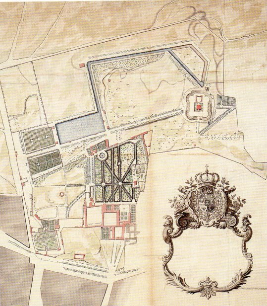 Robert de Cotte: Plano general del estado del lugar del Buen Retiro antes de ser ejecutados los proyectos, 1712-1713. Biblioteca Nacional de París.