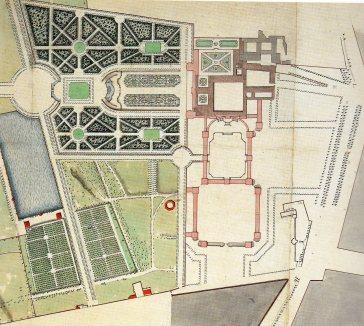 Robert de Cotte: Primer proyecto para la remodelación del Antiguo Palacio del Buen Retiro. Biblioteca Nacional de Francia, París.