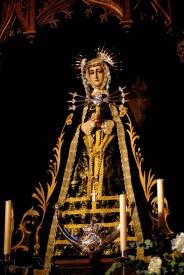 Imagen moderna de la Virgen de los Siete Dolores.