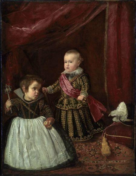 Diego Velázquez: Baltasar Carlos y un enano. Boston, Museum of Fine Arts.