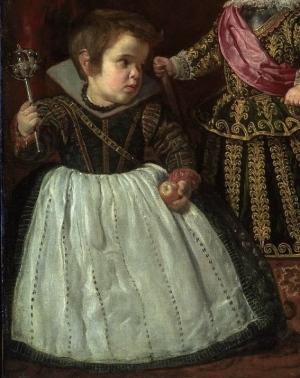 Diego Velázquez: Detalle del enano.