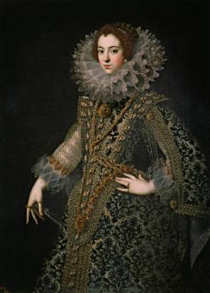 Anónimo madrileño: Isabel de Borbón. Madrid, Museo Nacional del Prado.