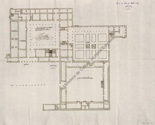 Planta de Valsaín. Archivo General de Simancas.