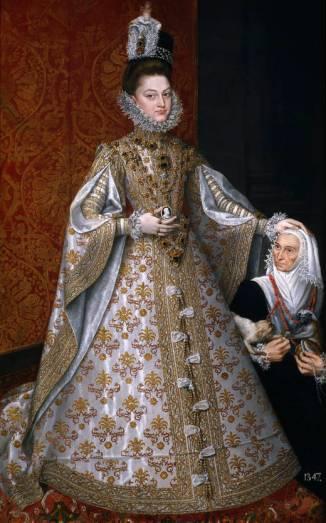 Alonso Sánchez Coello: La Infanta Isabel Clara Eugenia con la enana Magdalena Ruíz. Madrid, Museo Nacional del Prado.