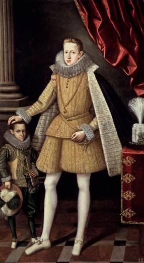 Rodrigo Villandrando: Felipe IV con el enano soplillo. Madrid, Museo Nacional del Prado.