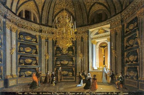 Fernando Brambilla: Vista del Panteon de nuestros augustos Reyes en el Real Monasterio. Madrid, Patrimonio Nacional.