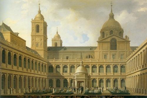 Fernando Brambilla: Vista del Patio de los Evangelistas del Real Monasterio. Madrid, Patrimonio Nacional.