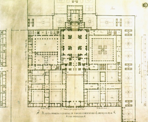Planta de El Monasterio de El Escorial