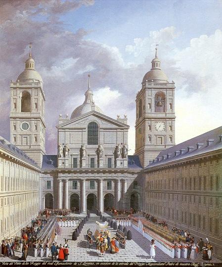 Fernando Brambilla: Vista del Patio de los Reyes del Real Monasterio. Madrid, Patrimonio Nacional.