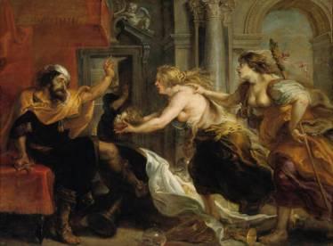 Pedro Pablo Rubens y taller: Banquete de Tereo. Madrid, Museo Nacional del Prado.