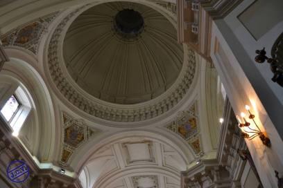 Interior de la cúpula en la Capilla del Cristo de los Dolores. Foto Jesús C.V.