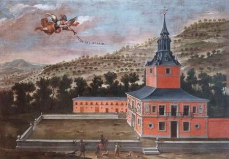 Anónimo madrileño: Vista de la Torre de la Parada, finales del siglo XVII. Madrid, Colección Abelló.