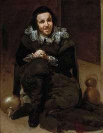 Diego Rodríguez de Silva y Velázquez: El bufón Calabacillas. Madrid, Museo Nacional del Prado.