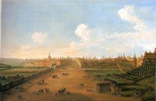 Antonio Joli: Vista de la Calle Atocha, ca. 1750. Fundación Casa de Alba, Madrid.