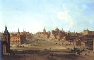 Antonio Joli: Vista de la calle Alcála, ca. 1750. Fundación Casa de Alba, Madrid.