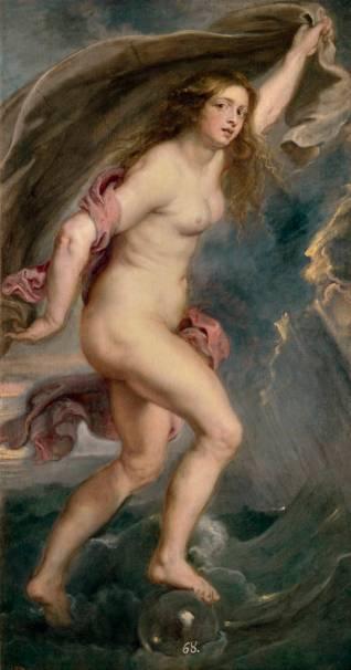 Pedro Pablo Rubens: La Fortuna. Madrid, Museo Nacional del Prado.