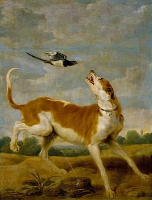 Paul de Vos: El perro y la picaza. Madrid, Museo Nacional del Prado.