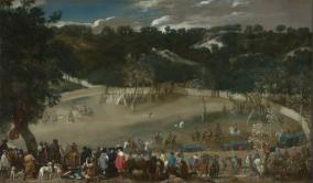 Diego Rodríguez de Silva y Velázquez: Felipe IV cazando jabalies o La Tela Real. Londres, National Gallery.