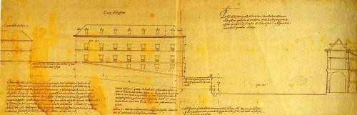 Juan de Herrera: Diseños para las Casas de Oficios de San Lorenzo de El Escorial. Perfíl. Madrid,  Archivo General de Palacio.