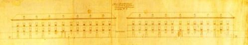 Juan de Herrera: Diseños para las Casas de Oficios de San Lorenzo de El Escorial. Vista desde la Lonja. Madrid,  Archivo General de Palacio.
