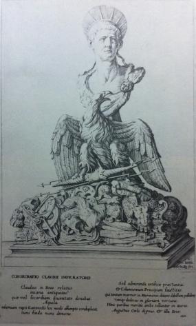 13. Giovanni Battista Galestruzzi: Grabado de La Apoteosis de Claudio. 1657.