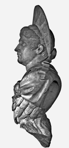 15. Valeriano Salvatierra: Cabeza del Emperador Claudio, mármol blanco. Madrid, Museo Nacional del Prado, nº inv. E-643.